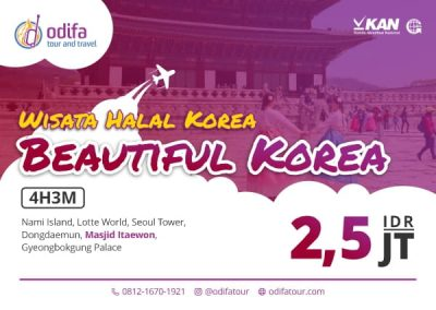 Beautiful Korea – Paket Wisata Halal Korea 4D3N