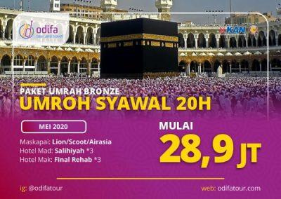 Umroh Syawal 20 Hari (Paket Bronze)