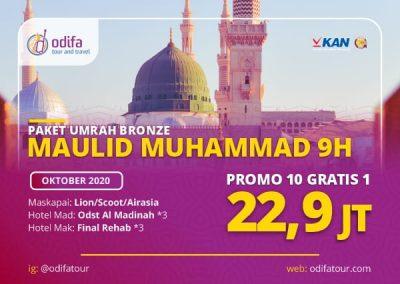 Umroh Maulid Nabi Muhammad 9H (Bronze)