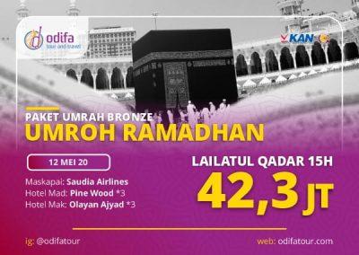 Umroh Ramadhan Lailatul Qadar 15H (Bronze)