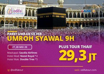 Umroh Syawal Plus Thaif 9H (Paket Silver)